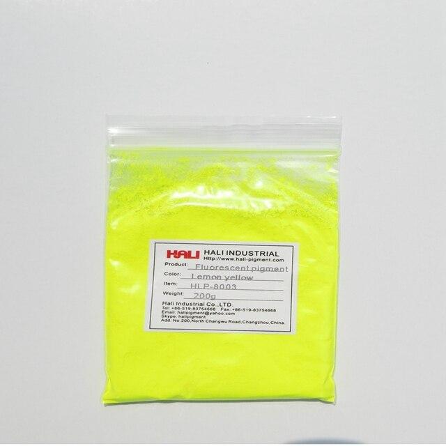 Satış kaliteli lemon sarı neon pigment tozları, floresan pigment, 1 grup = 200 gram HLP 8003 lemon sarı, ücretsiz kargo