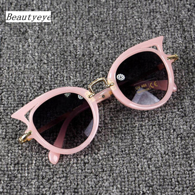 551b37daa8412 Beautyeye 2018 Crianças Óculos De Sol Meninas Meninos Óculos De Marca Olho  de Gato Crianças UV400