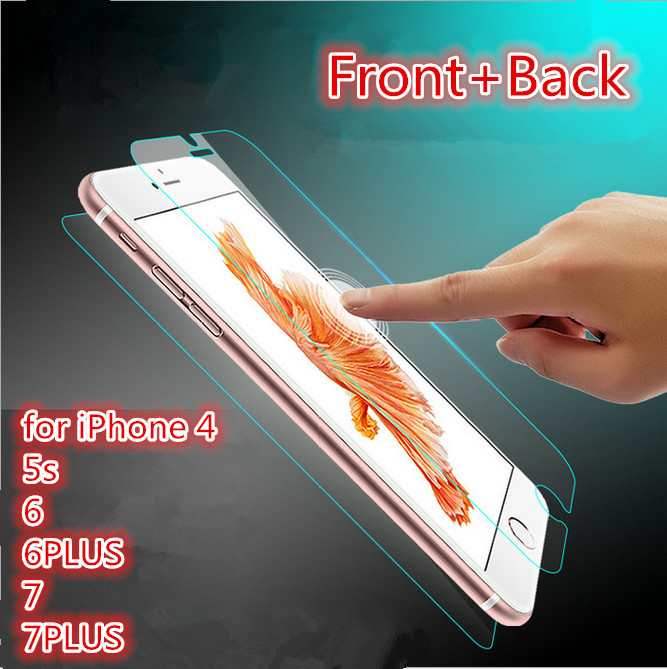 Front+Back Tempered Glass for iPhone 4 s 5s 5c SE 6 6s 7 Screen Protector Film for iPhone 7 plus 6 plus 6s plus Toughened film