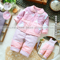 Free Shipping New 2013 Baby Clothing Set Baby Boy Baby Girl Warm Outerwear Kids Pants 3pcs