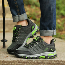 Men's Hiking Shoes Antiskid Trekking Mountain Trainers Outdoor Male Sneakers Army Green Gray Black Anti-Slip Climbing Shoes недорого