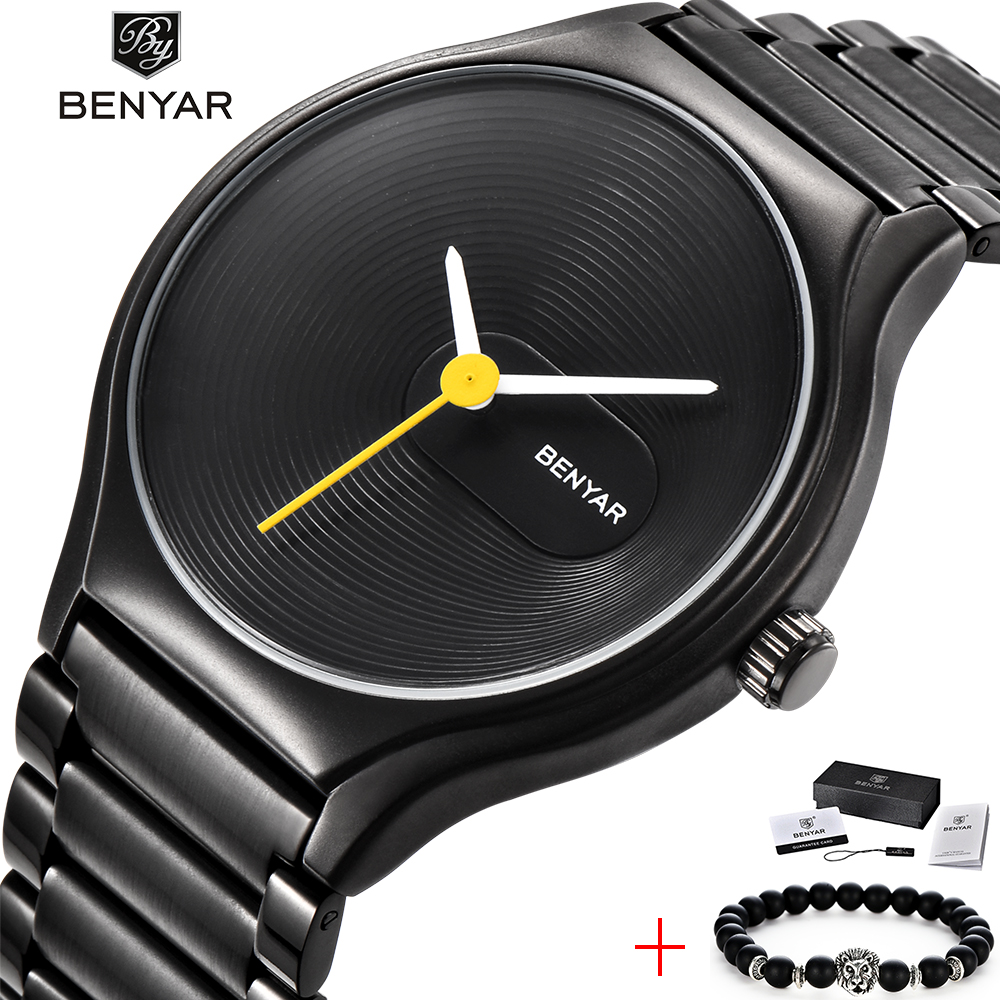 Top Brand BENYAR Men Watch Luxury Ultra Thin Simple Couple Watches Women Fashion Business Stainless Steel Quartz Wristwatch HotTop Brand BENYAR Men Watch Luxury Ultra Thin Simple Couple Watches Women Fashion Business Stainless Steel Quartz Wristwatch Hot