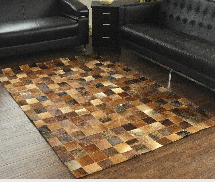 Fashionable art carpet 100% natural genuine cowhide leather baby changing matFashionable art carpet 100% natural genuine cowhide leather baby changing mat