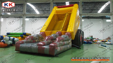 air floating inflatable car slide with bouncer/ special design inflatable car combo