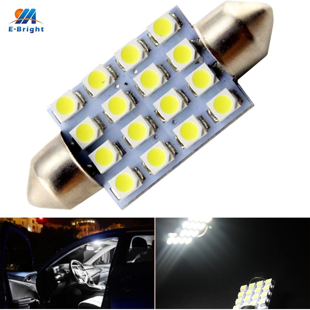 4-LED 3528 SMD Super Bright Error Free Canbus Festoon Bulb NEW 42mm 15W