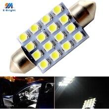 YM E Bright 500 PCS C5W 12V DC 3528 1210 16 SMD 31mm 36mm 39mm 41mm Festoon Dome LED Light Bulbs Car Lights Led Roof Lights