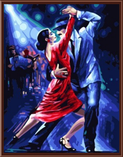Oil Painting Frameless Pictures Painting By Numbers DIY Digital Canvas Oil Painting Home Decor Living Room Of Tango Dancer G365