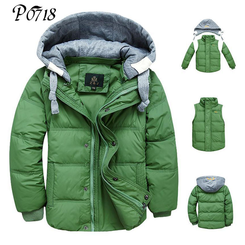 2017 Winter Children Boys Down Jacket Coat Fashion Hooded Thick Solid Warm Coats Boy Clothing Outwear for 4-13 Years 6 Colors 2016 winter children boys down jacket coat fashion hooded thick solid warm coat boy winter clothing outwear for 4 13t 6 colors