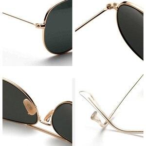 Image 5 - 2018 neue sonnenbrille männer vintage Pilot Polarisierte Glas objektiv sonnenbrille Fahren Angeln oculos Spiegel reflctive Frauen Brillen