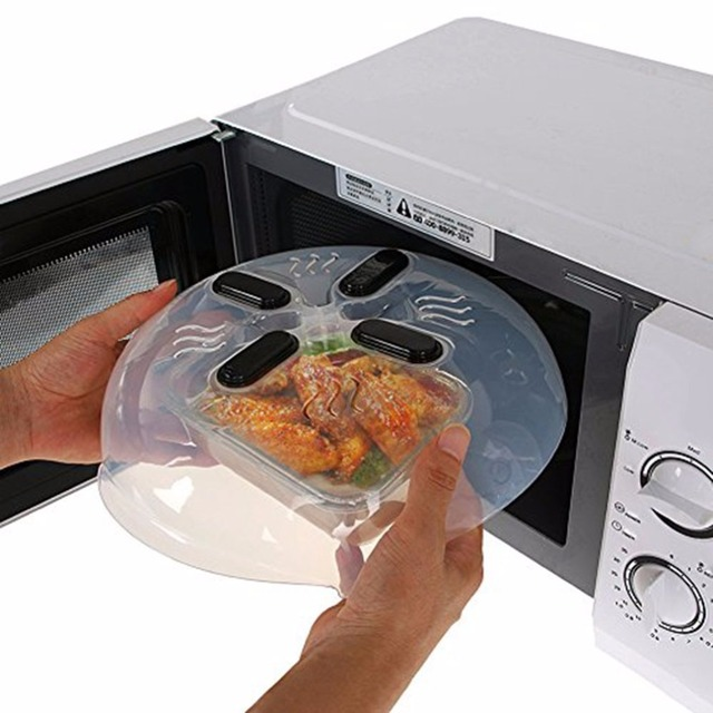 Plastic Magnet Food Splatter Guard Microwave Hover Anti Sputtering Cover With Steam Vents Magnetic