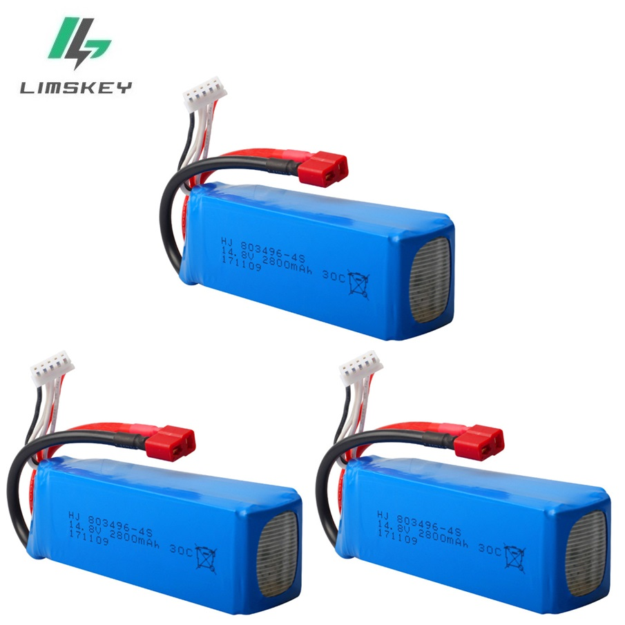 14.8V 2800mah 30C RC Lipo Battery for FT010 FT011 RC boat 4s Battery RC Helicopter Quadcopter 14.8 v Battery 803496 4s 3pcs/lot|Parts & Accessories| |  -