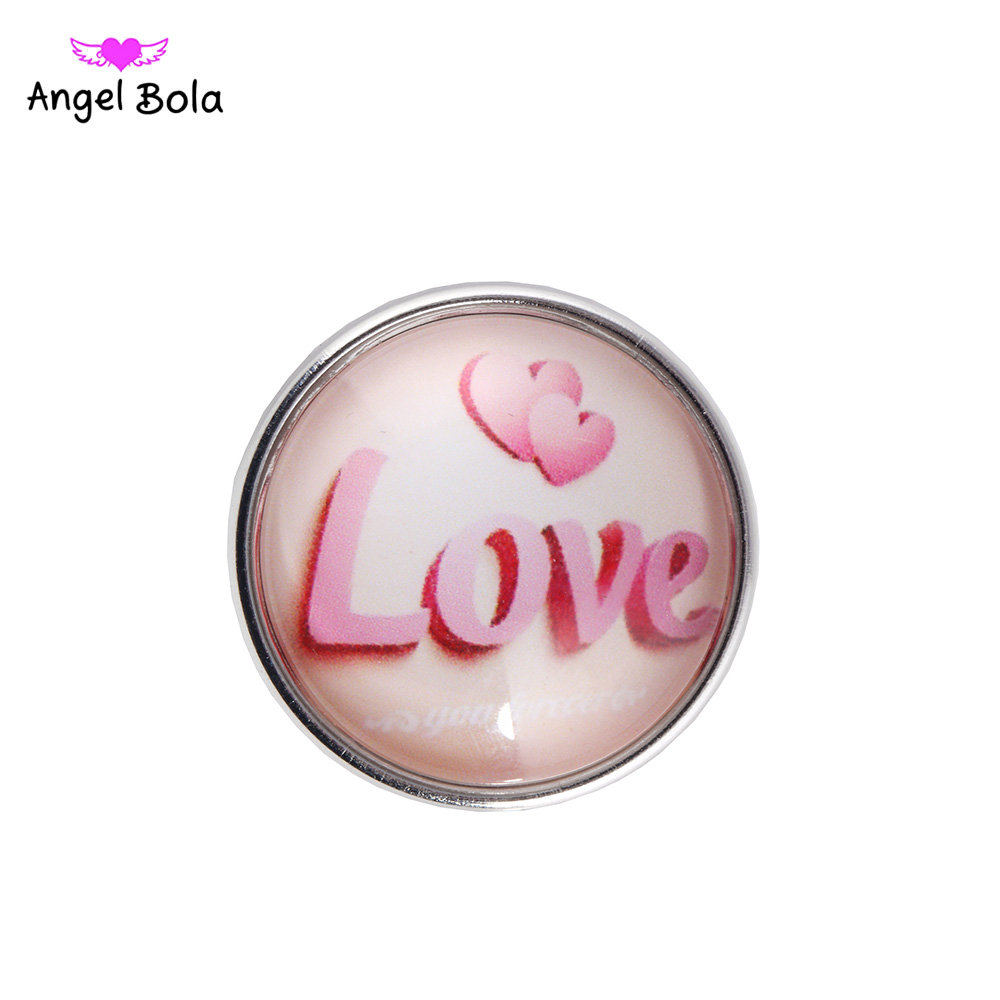 12PCS/LOT High Quality 18MM Love Gifts snap buttons DIY Snaps Charms Jewelry Fit Snap Bracelet&Bangle NS002-116 Free Shipping
