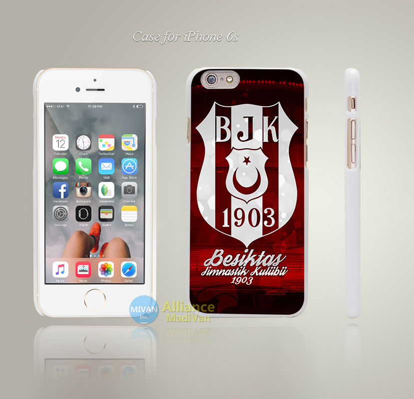 BJK Besiktas Red Back Since 1903 – Style Hard White Case Cover Coque for iPhone 4 4s 4g 5 5s 5g 5c 6 6s 6 6s Plus