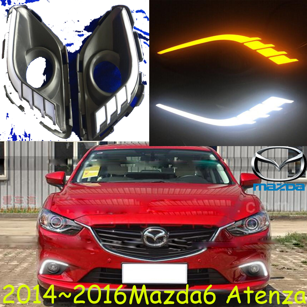 Car bumper headlight for Mazda 6 Mazd6 atenza daytime Light 2014 2016y Atenza fog light LED