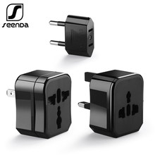 SeenDa Perjalanan Adaptor Internasional Universal Power Adaptor All-In-One Di Seluruh Dunia Dinding Charger Plug Soket Converter US UK uni Eropa Au(China)