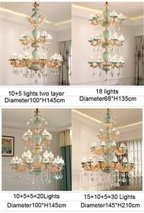 Image 4 - Modern Chandelier Lustre Crystal Chandeliers Kitchen Lamp LED Lighting Dining Room Crystal lights Living room chandeliers hotel