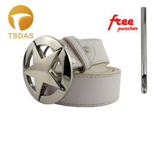 купить Metal Pentagram Belt Buckle With Bright White Reflective, 7.7*7.7cm Round Belt Buckle With Pin Buckles дешево