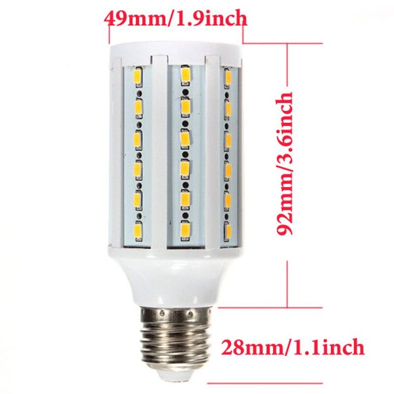 Высокая мощность E27 15 Вт светодиодные лампы 60 LED 5630 SMD LED лампа кукурузы 1400LM AC85 265V AC110V/220 В холодный белый/теплый белый 10 шт. - 2