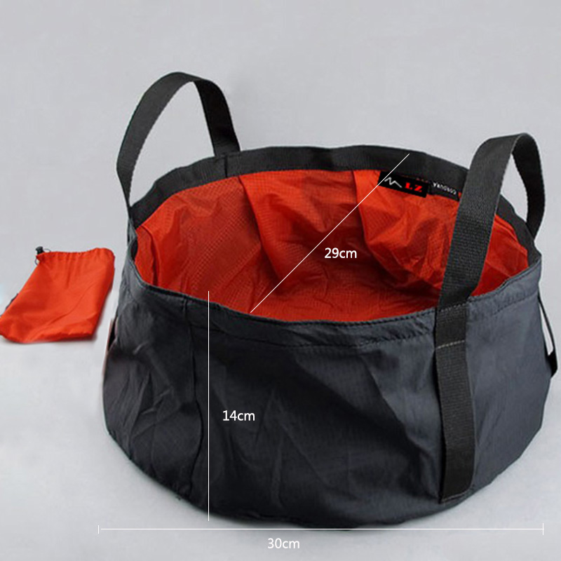 8.5L Portable Outdoor Travel Foldable Folding Camping Washbasin Basin Bucket Bowl Sink Washing Bag Water Bucket Ultra-light