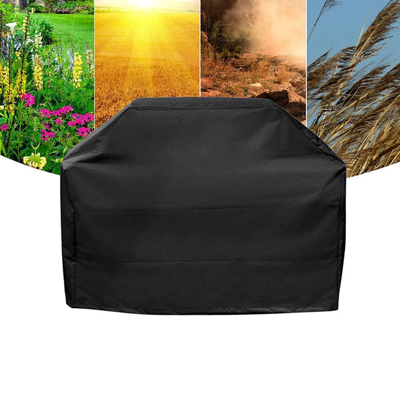 Black Outdoor Rain Grill Waterproof BBQ Grill Barbeque Cover Barbacoa Anti Dust Protector For Gas Charcoal Electric Barbecue Bag