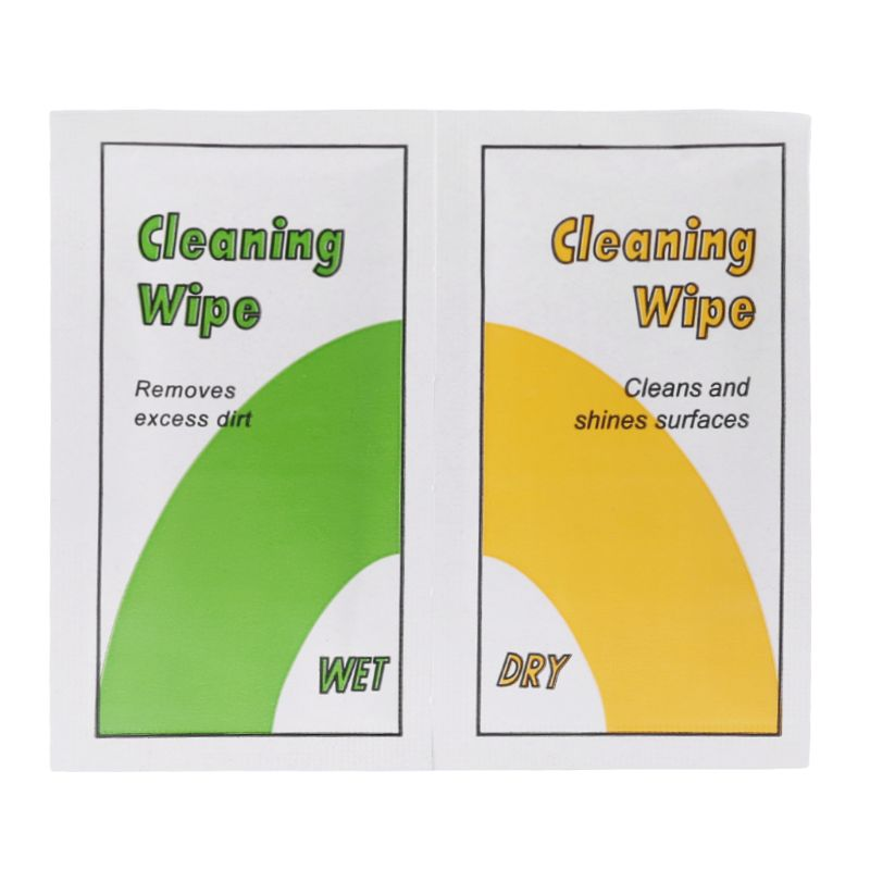 8.9x4.9cm Wet & Dry Wipes Kit Cleaning Papers Dust Removal Tool With Alcohol For Phone Screen