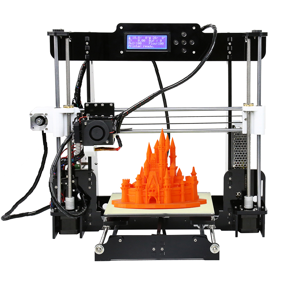 Anet A8 3D Printer Auto Leveling&Standard Anet A8 3D Printers Reprap i3 DIY Kits 3D printer kit Auto Self-leveling Desktop reprap prusa i3 anet a8 3d printer auto leveling extruder assembly kit with silicone sock all metal extruder carriage