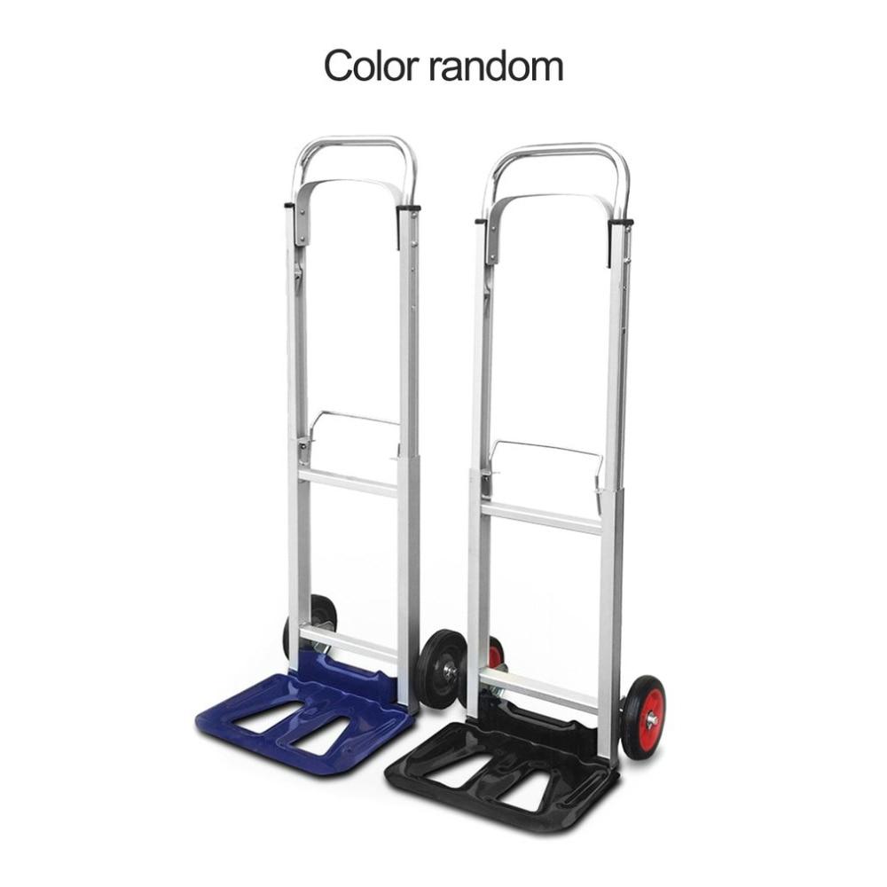 Two Wheel Folding Portable Shopping Cart Aluminum Alloy Trolley Car Luggage Trailer Tightly Loaded Foldable Trailer