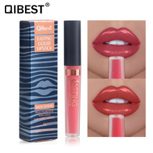 QIBEST Sexy Liquid Lip Gloss Natural Long Lasting Moisturizing Lip Gloss Matte Waterproof Cosmetic Lip Glaze 15 Colors TSLM1