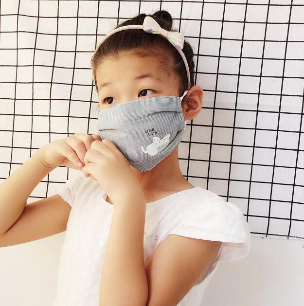 Children's Autumn Winter Cartoon Cotton Masks Boy Girls PM 2.5 Breathable Mouth-muffle R716