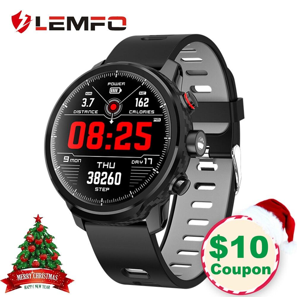 LEMFO Смарт-часы с полной Сенсорный экран IP68 Водонепроницаемый Smartwatch Поддержка нескольких видов спорта режимы мониторинга сердечного ритма д...
