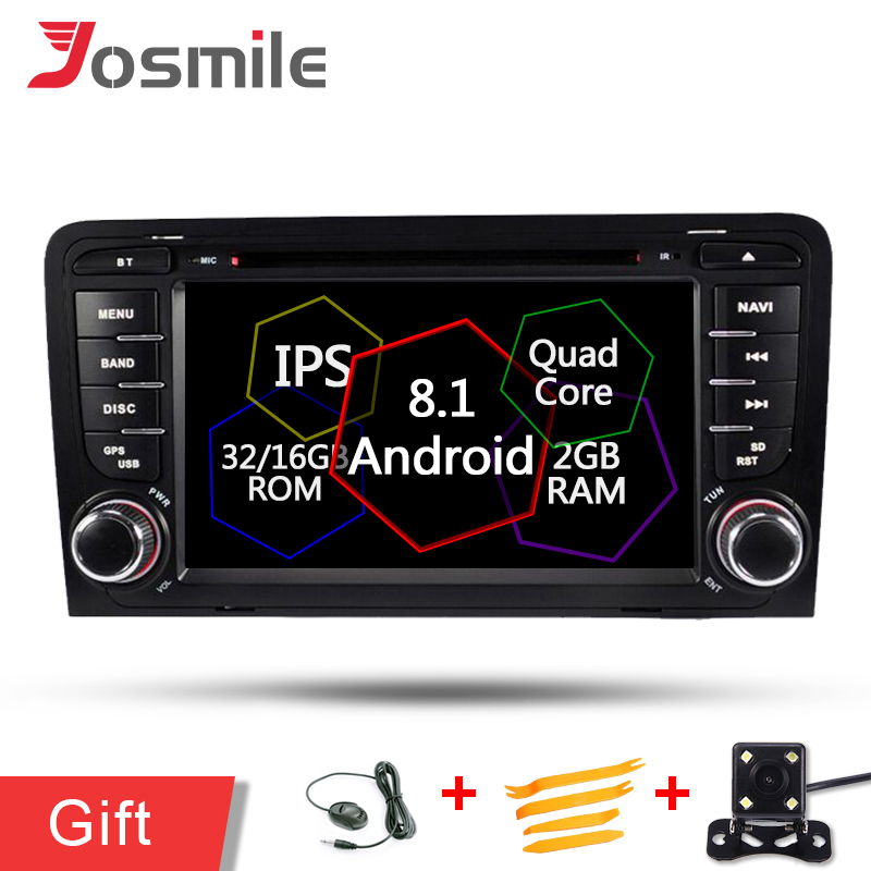 Auto GPS Navigation Android 8.1 IPS <font><b>Radio</b></font> Wifi Mp3 DVD-Stereo-Player Für <font><b>Audi</b></font> <font><b>A3</b></font> 8 P/<font><b>A3</b></font> 8P1 3 -tür Hatchback/S3 8 P/RS3 Sportback image