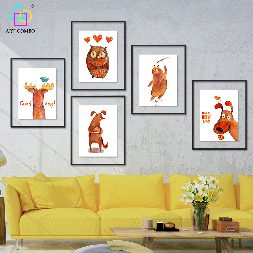 Modern Art Paintings For Living Room Modern Dog Paintings Promotion Shop For Promotional Modern Dog