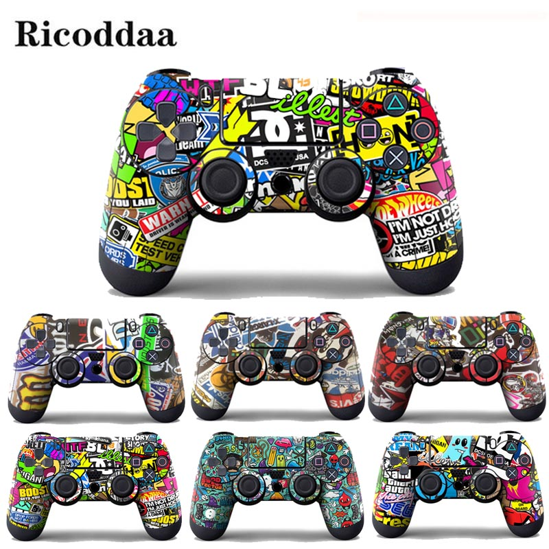 cartoon-vinyl-skin-sticker-for-sony-font-b-playstation-b-font-4-controller-protective-cover-sticker-for-ps4-gamepad-skin-decal-accessories