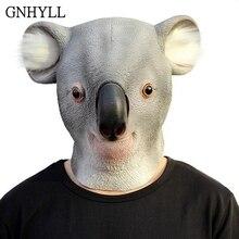 GNHYLL Novelty Latex Koala Bear Mask Australia Outback Animal Kangaroo Party Helmet Halloween Cosplay Costume Props
