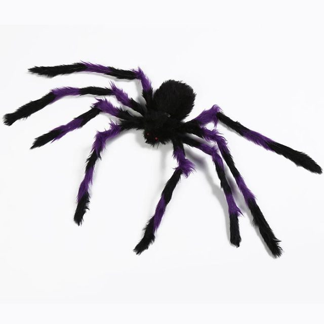 1pcs/lot 30cm Plush  Funny Toy Spider Props For Party Bar Halloween Decoration wholesale  Spider Haunted House
