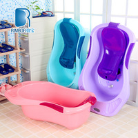3 colour baby bath large size baby plastic material Bath bucket for bathing thick baby bath tub