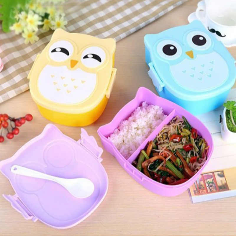 Cartoon Owl Lunch Box Portable Japanese Bento Meal Boxes Lunchbox Storage For Kids School Outdoor Thermos For Food Picnic Set