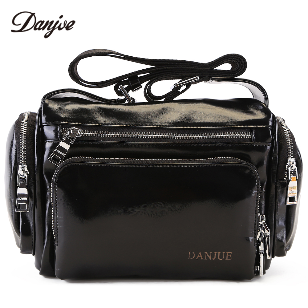 все цены на DANJUE Genuine Leather Men Business Messenger Bag High Quality Male Travel Bag Daily Bag Oil Wax Two Size Shoulder New Bag Male