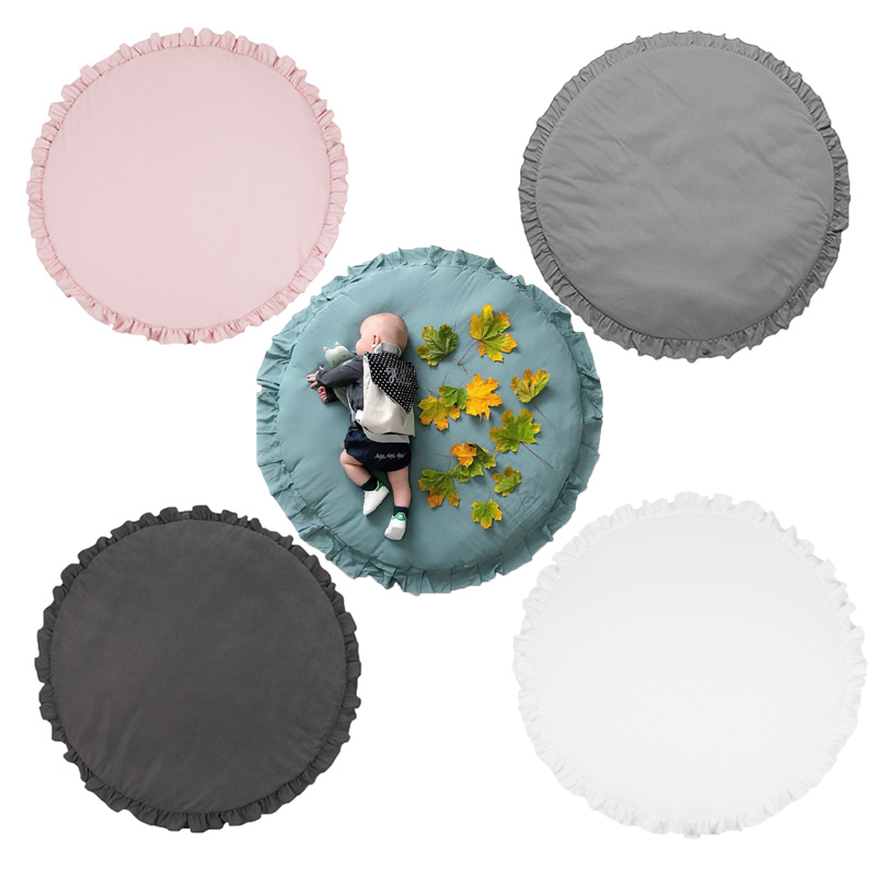 Play Mat Baby Crawling Blanket Floor Carpet for Kids Room Mats Soft Cotton Padded Playmat Round Play Mat Baby Crawling Blanket Floor Carpet for Kids Room Mats Soft Cotton Padded Playmat Round Rugs Newborn Girl Boy Birth Gift