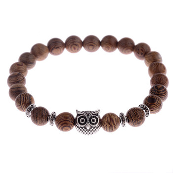 Elastic Natural Wood Beads Bracelet Bracelets Jewelry New Arrivals Women Jewelry Metal Color: 001-4