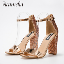 8d79833576 Buy glitter block heels and get free shipping on AliExpress.com