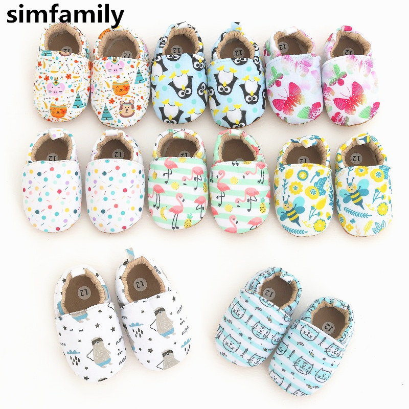 [simfamily]Baby Boy Girl Shoes Newborns Baby Shoes First Walkers Soft Infant Toddler Shoes Cute Printed Shoes Sneakers