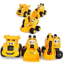 Mini aranyos rajzfilm kutya autó baba oktatási játék Kawaii kölyök gépjármű járművek akció autó modell gyerekeknek születésnapi ajándék
