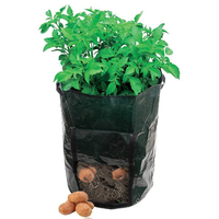 100 PCS PE Vegetable Potato Planting Container Vertical Garden Flower Vases Seedling Vessels Grow Greenhouse Seedlings Bags