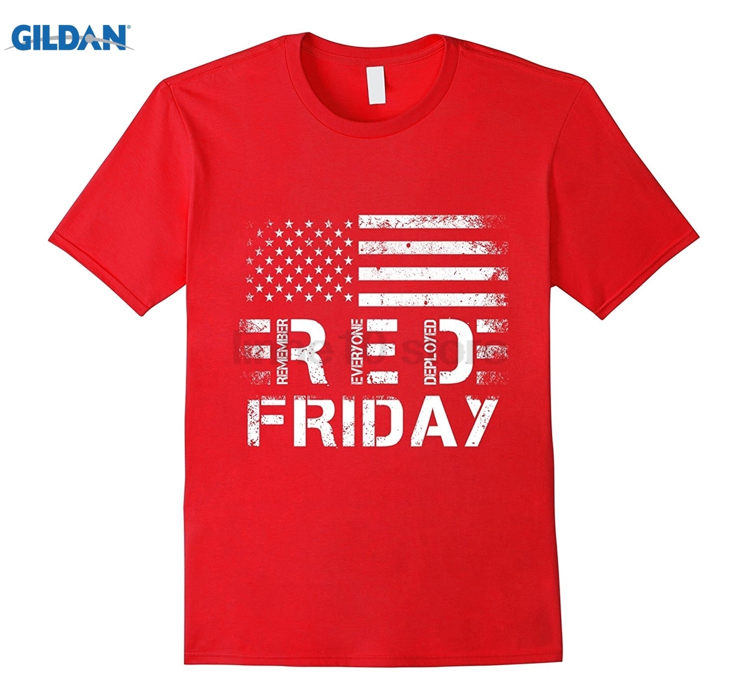 GILDAN R.E.D Friday TShirt RED Remember Everyone Deployed T Shirt Womens T-shirt ...