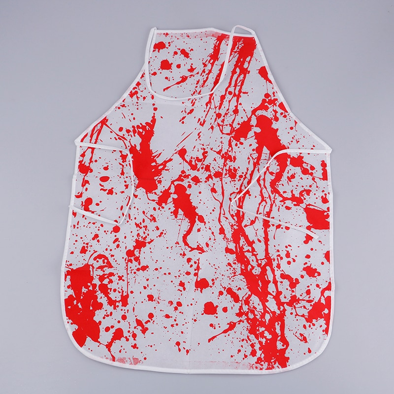 Home & Garden Tpxckz Halloween Costume Horror Bloody Apron Butchers Chef Kitchen Unisex Cook Adult Novelty Fancy Dress Party Supplies New Strong Resistance To Heat And Hard Wearing Household Cleaning