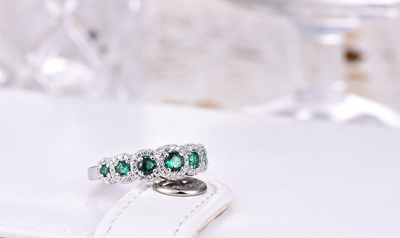 Simulated Diamond sterling silver rings jewelry (5)