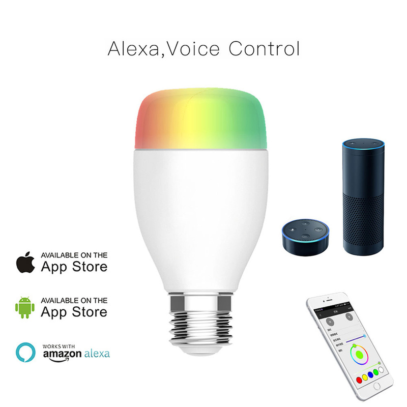 2/3pcs Smart home Light E27 Bulb Led work with Alexa Google Home automation voice Remote Control RGB Energy Saving Dimming Bulb