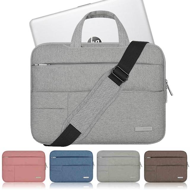 A prueba de agua de Nylon portátil para HP pabellón presagio 13 14 15 portátil caso X360 bolso de hombro desmontable 14,1 cinturón 15,6 pulgadas manga