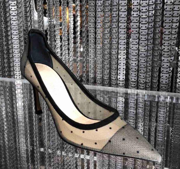 10cm Hauts Slip Pompes Cm Talon Bout Pointu Maille Perspective sur 10 8 Sexy 8cm 2019 Femmes Patchwork Talons Mince g4wSUxq